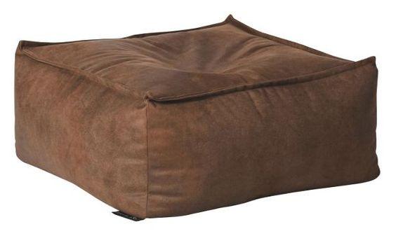 Dieses äußerst bequeme Pouf im klassischen braun passt ideal zum lässig, coolen Einrichtungsstil.