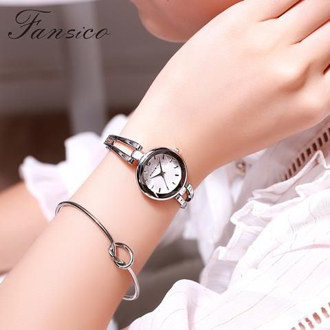 Fansico Fashion Small Dial Women Bracelet Watches Luxury Ladies Watch Girls Watches For Women Casual Mini Clock Girls Watches Bracelet Watches Women Womens Watches