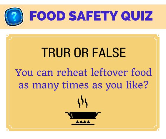 Food Safety Quiz. True Or False? Share In Comments #FoodSafety #Management |  Food Safety Quiz