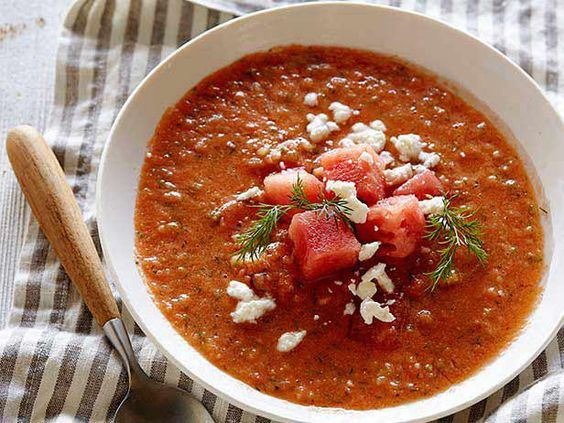 Watermelon Gazpacho Kick off your summer meal with Tyler's quick ...