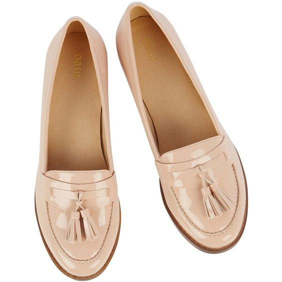 OASIS Patent Tassel Loafer found on Polyvore