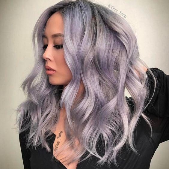 teinture de cheveux gris
