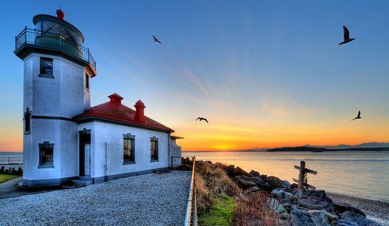 Alki Beach Lighthouse ~ West Seattle