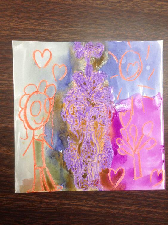 Watercolor and crayon December 3, 2014