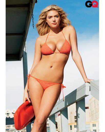 Photos: Kate Upton's GQ Cover Shoot. Bikini by Chloé.