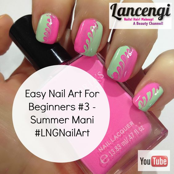 Nail Art For Beginners Youtube: Easy Nail Art For Beginners #4