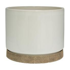 10 In Cylinder With Saucer White Cr00720s 100w White Ceramic Planter Ceramic Planters White Ceramics