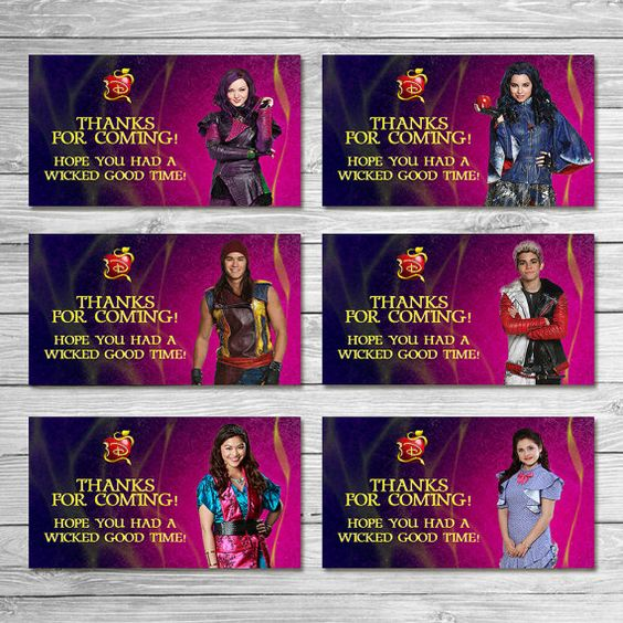 The Descendants Party Tags Pink Purple/ The by ItsACowsOpinion