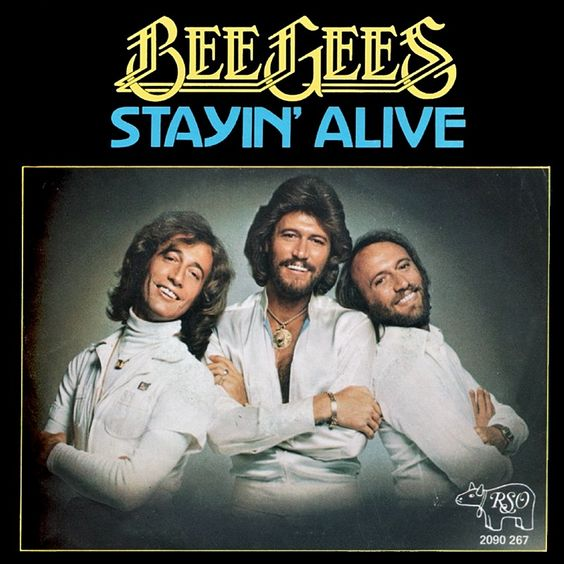 Bee Gees – Stayin' Alive (single cover art)