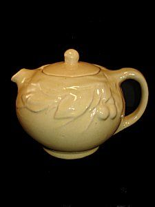 pale yellow McCoy Teapot  Love this