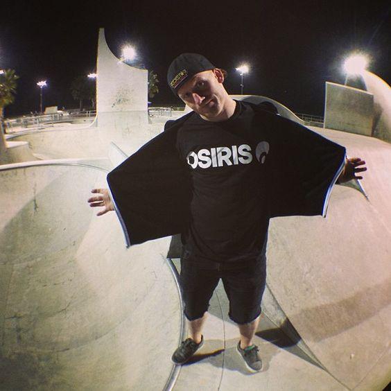 Ryan Nyquist rocking the NEW Osiris team hoodie.