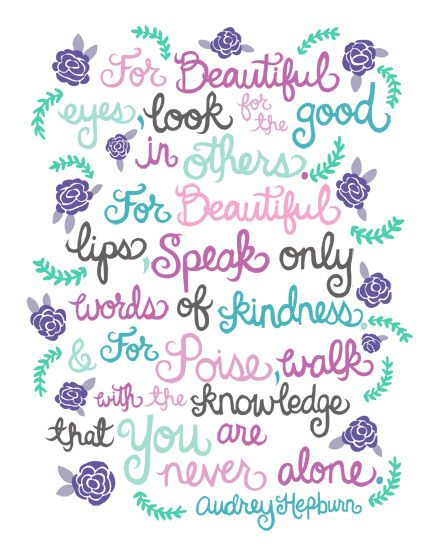 audrey hepburn quotes | Audrey Hepburn Quote Illustration. | Flickr - Photo Sharing!