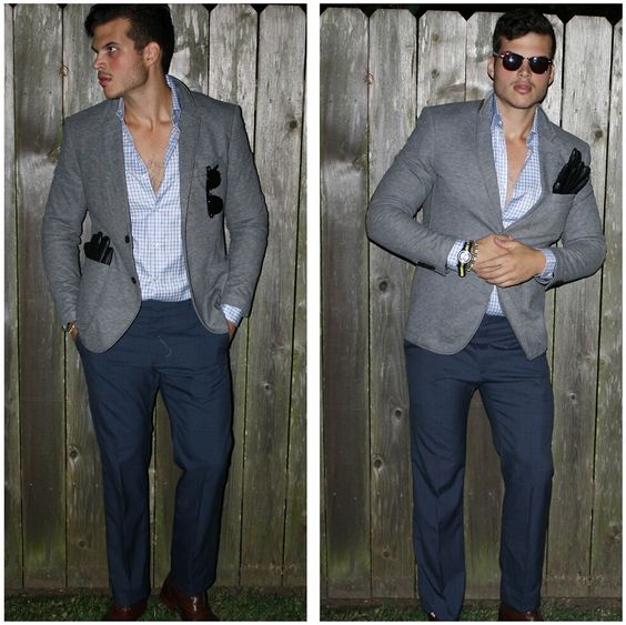 blue pants grey jacket - Google Search | The Man I Love ...