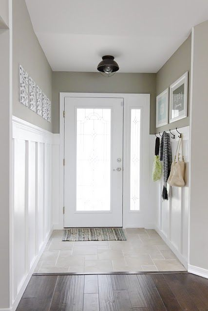 love this wainscot for my entry
