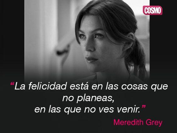 Frase de Meredith Grey de Anatomía de Grey