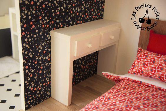 Maison de barbie 6 les meubles chambres et salle de bain projet mai - Fabriquer maison barbie ...