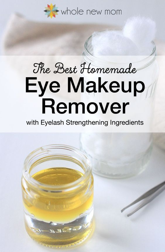 Did you know that there are 82,000+ chemicals in use in the US today, and only 1/4 of them have been tested for safety. I try to buy clean personal care products and make as many of them as I can. I tried a bunch of Homemade Eye Makeup Removers and this one worked the best – it also strengthens eyelashes! Ditch the toxins, save money, and make it yourself!