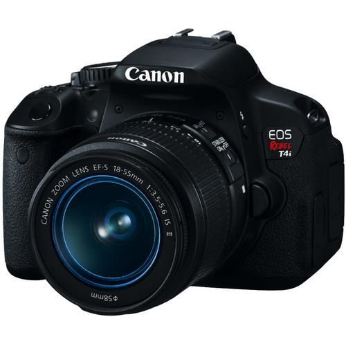 Canon EOS Digital Rebel T4i with EF-S 18-55mm IS II Lens - Black