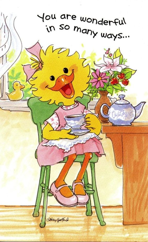Suzy's Zoo Mother's Day Greeting Card - Suzy Ducken with a Tea Pot #SuzysZoo #MothersDay