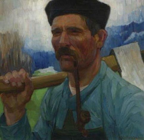 1911 - W. v. Ruckteschell - Bündener Holzfäller