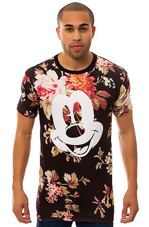 The Mickey Face Cut and Sew Tee in Floral by NEFF use rep code: OLIVE for 20% off!