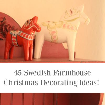 Beautiful farmhouse and Scandinavian style ideas for Christmas and holiday decorating on Hello Lovely.: