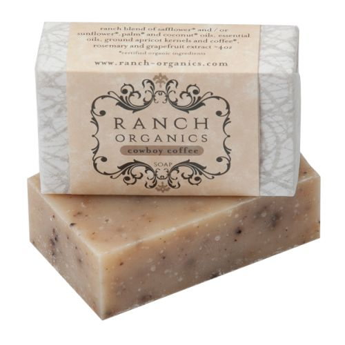 Cowboy Coffee Botanical Soap: A soap's answer to a day of chores. Spruce up and scrub with this invigorating and cleansing bar.  Scent: Cowboy Coffee (ground coffee & apricot)