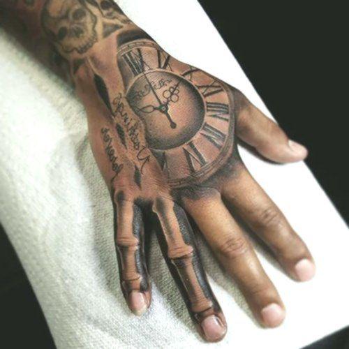 Hand Tattoo Skelett Knochen Perfect Tattoo 13