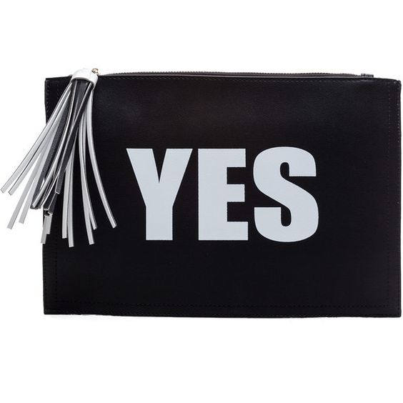 Yes Or No Clutch (39 AUD) ❤ liked on Polyvore featuring bags, handbags, clutches, hand bags, blue purse, man bag, handbag purse and blue hand bag