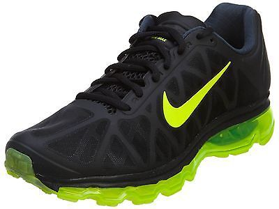 Nike Air Max 2011 Mens 684530-002 Black Volt Athletic Running Shoes Size 10.5