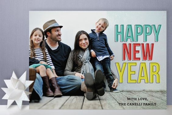 Fabulous family New Year card created by Paper Dahlia [San Francisco]