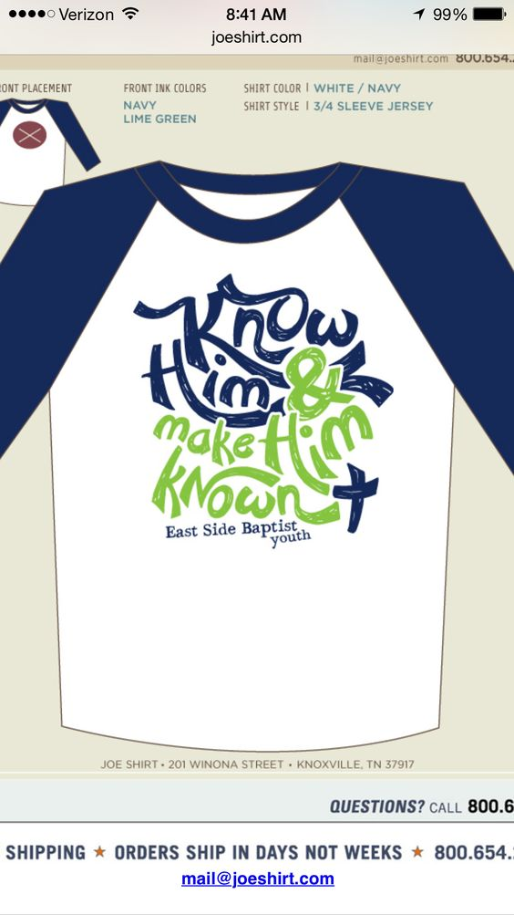 Youth group shirts... This is a possibility!!! :)