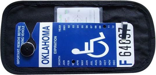 Handi Card Handicap Permit Visor Display Stores And Displays Handicap Parking Permit For Safety Simple Storage Card Storage Accessible Kitchen