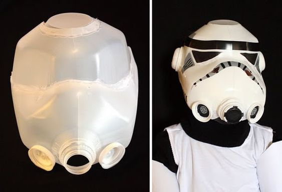 Stormtrooper Helmet from Milk Jugs: DIY Kids