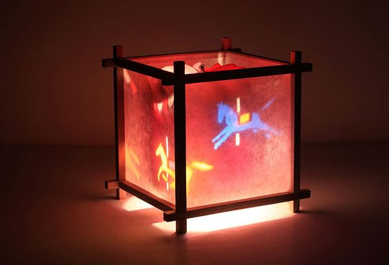 Rotating Silhoutte Rice Paper Night Lamps Google Search