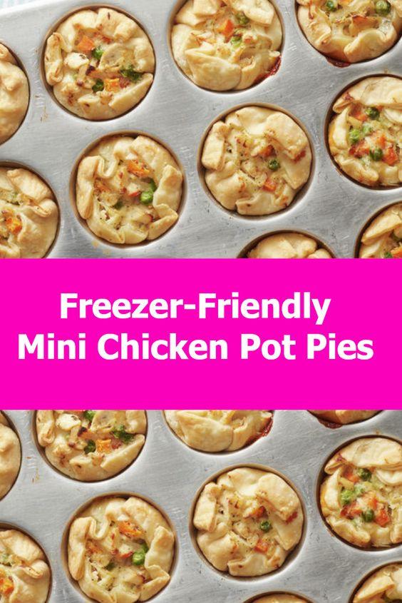 Freezer-Friendly Mini Chicken Pot Pies