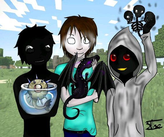 Null Entity303 And Herobrine 3 Minecraft Cute Minecraft Anime Minecraft Drawings Minecraft