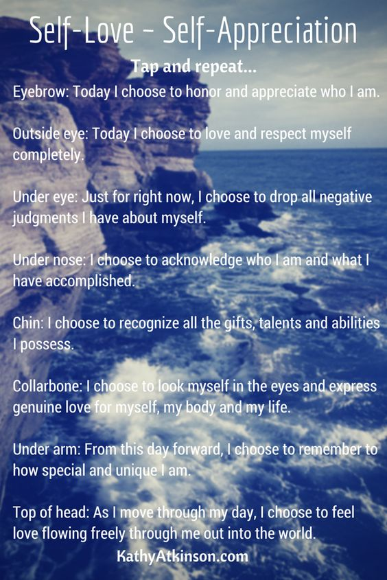 EFT Meridian Tapping - Self-Love ~ Self-Appreciation | Kathy Atkinson, Success Coach, EFT Practitioner