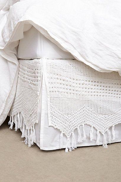 Fringe Crochet Bedskirt #anthropologie