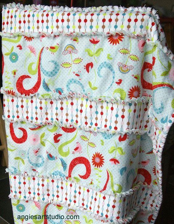 Fleece strip blanket pattern