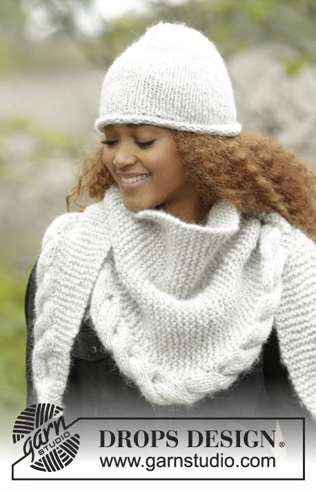 Free Loom Knitting Patterns For Scarves : Drops design, Winter and Shawl on Pinterest