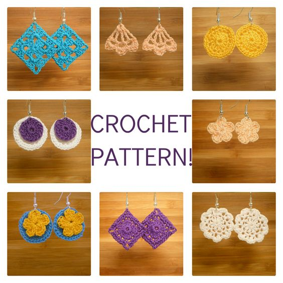 "Crocheted Earrings PDF Pattern ""Dainty Dangles"". $2.50, via Etsy."