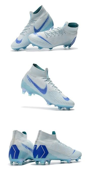 New Nike Mercurial Superfly 6 Elite Fg World Cup Blue Girls Soccer Cleats Best Soccer Shoes Soccer Shoes