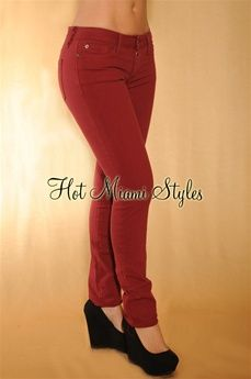 I want to be able to pull off Wine colored jeans :)