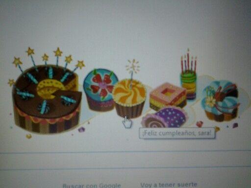 Mi Doodle en google por mi cumple hoy