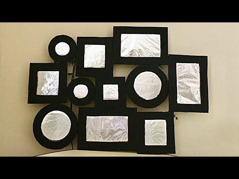 Diy Aluminum Foil Wall Art Handmade Photo Frame Photo Frame Making At Home Fashion Pixies Youtube Foil Wall Art Handmade Photo Frames Cheap Diy Wall Art
