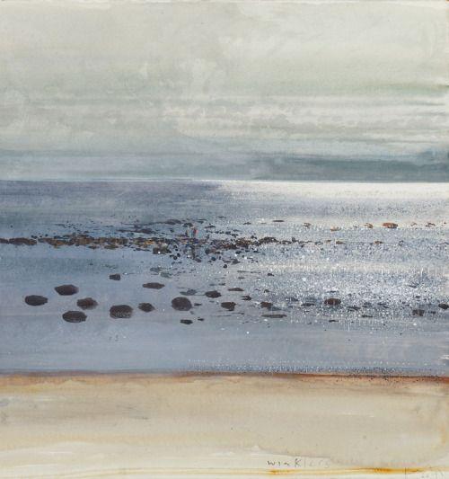Winklers - Kurt Jackson British, b.1961- mixed media on paper, 57 x 54 cm