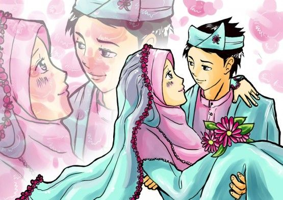 610 Gambar Animasi Muslim Dan Muslimah Romantis Gratis