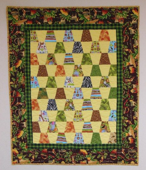 Zoo Animals Tumbler Quilt - simple child's quilt