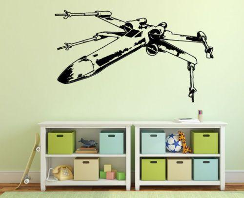X-Wing-star-wars-wall-sticker-decal-large-movie-sci-fi-retro-luke-skywalker